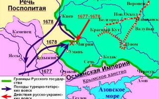 Русско-турецкая война — 1672-1681 гг. — для студента