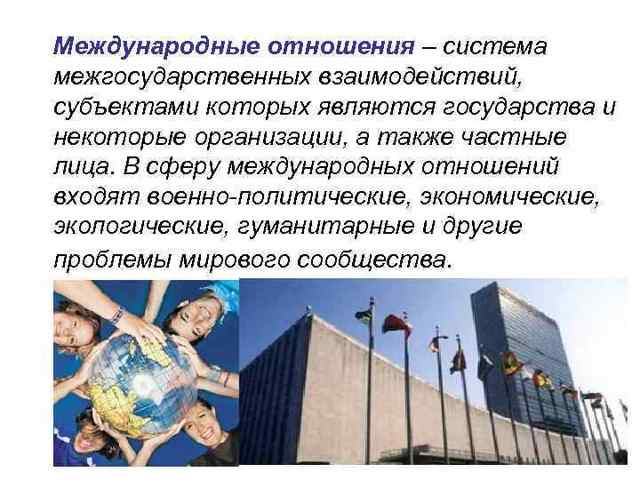 Влияние международных отношений на политическую карту мира - Для студента