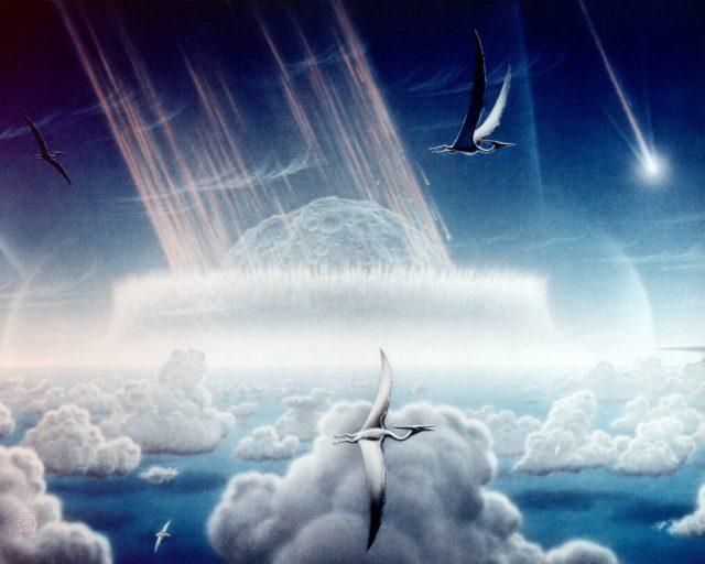 Астероид, погубивший динозавров, вызвал массовое глобальное потепление - Для студента